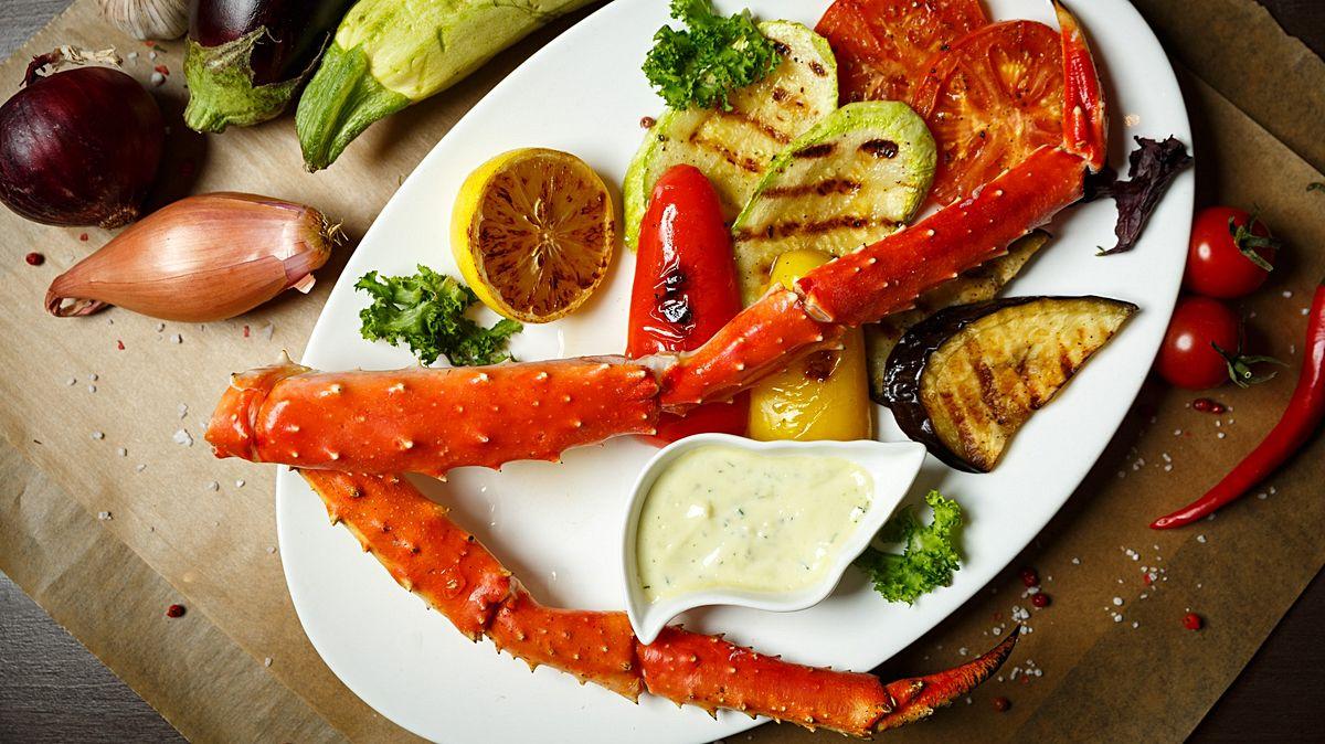 Crab and caviar